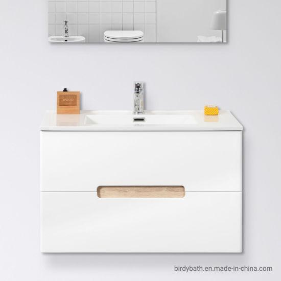China Suspended Modern White 80cm Drawers Design Bathroom Cabinet China Bathroom Vanity Unit Bathroom Furniture
