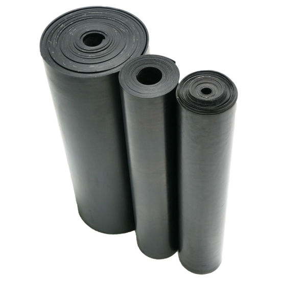 Industrial Anti-Slip Black Wide Ribbed Rubber Mats Flooring Sheets Rubber Mats