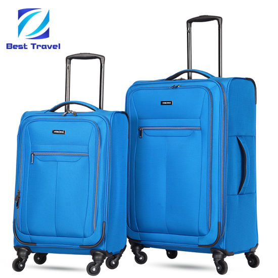 Fashion 4 Wheels EVA Polyester Soft Fabric Trolley Travel Luggage pictures & photos
