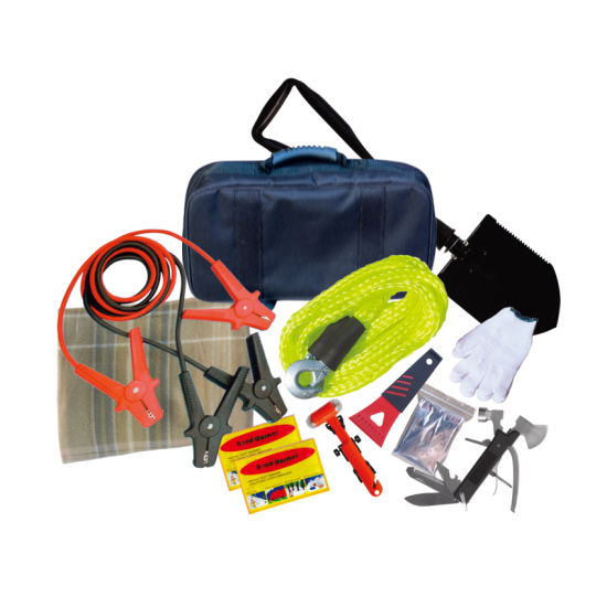 Complete Car Breakdown Kit Jump Leads Tow Rope First Aid Fire Extinguisher
