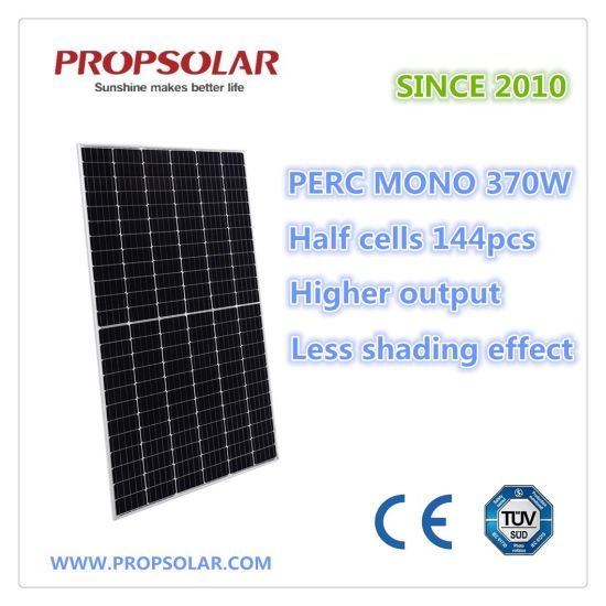 370W Half-Cell Monocrystalline Solar Panel with Ce, TUV Certifications
