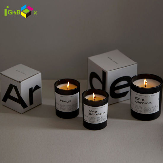 Corrugated Paper Tuck Top Auto Lock Bottom for Srt Candle Luxury Packaging Box Candle