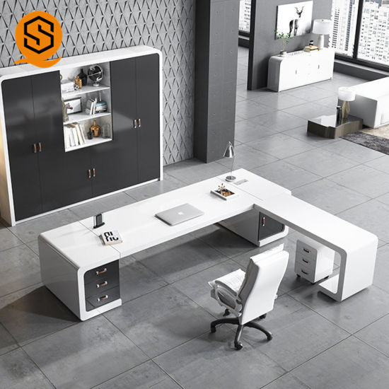 White Solid Surface Office Furniture