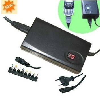 90w Universal Adapter/Adaptor for Laptop With LCD