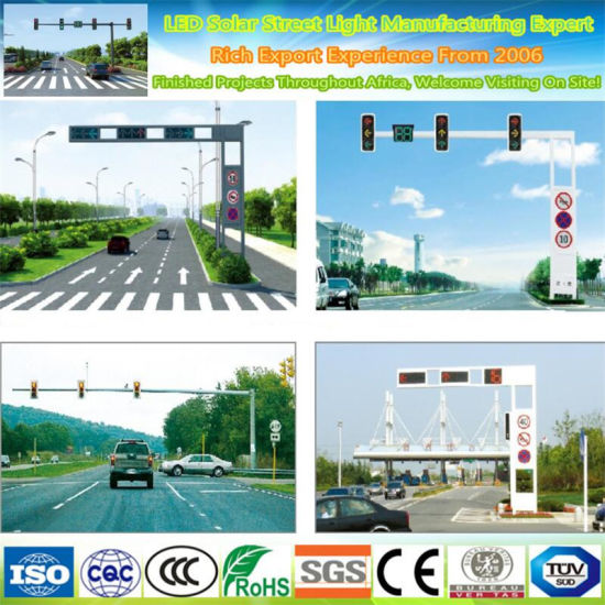 Steel Road Street Traffic Signal Lighting Pole and Road Camera Monitoring Pole
