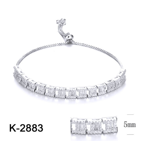 New Design Fashion Jewelry 925 Sterling Silver or Brass Adjustable Diamond Bracelets for Women pictures & photos