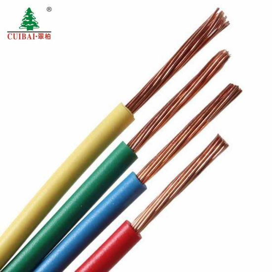 Insulated Binding Electrical Cable BV/Bvr Building Wire for Home and Office