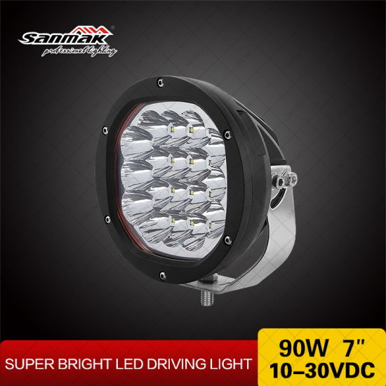 Low-Profile Ultimate 7inch 90W 4X4 LED Driving Light pictures & photos