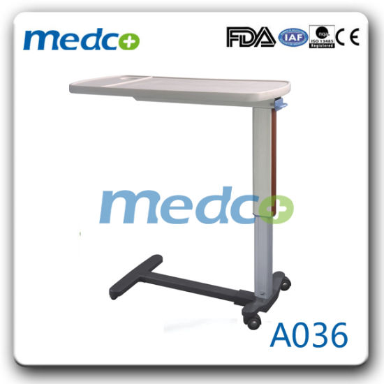 Height Adjustable Hospital Over Bed Table pictures & photos