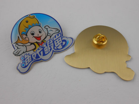 Mini Gold Round Badge with Chain (GZHY-KA-008) pictures & photos