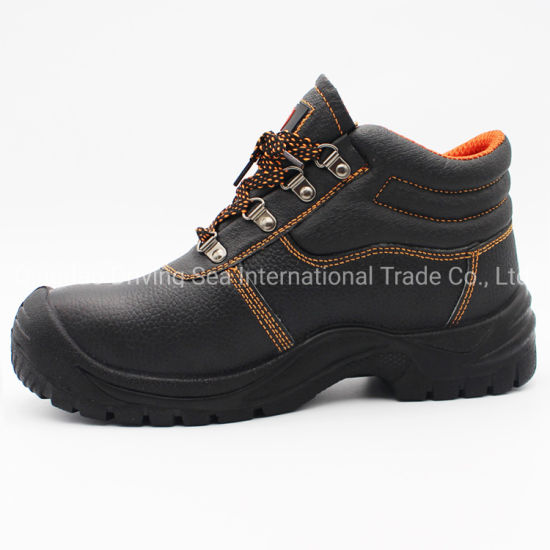 Genuine Leather PU Sole Safety Shoes for Works