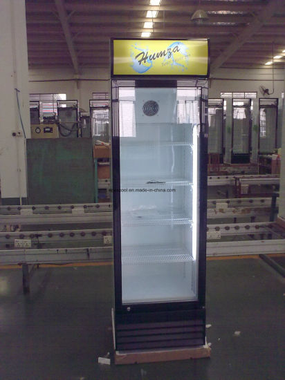 360L Ce Approved Glass Single Door Fridge with Wheels pictures & photos