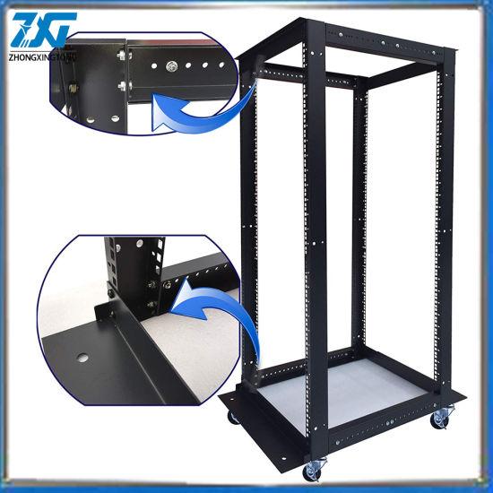32U 4 Post Open Frame 19 Network Server Rack Cabinet Adjustable Depth 24-37