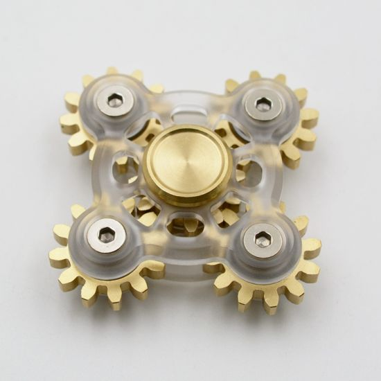 Transparent Gears Design Metal Fidget Spinners pictures & photos