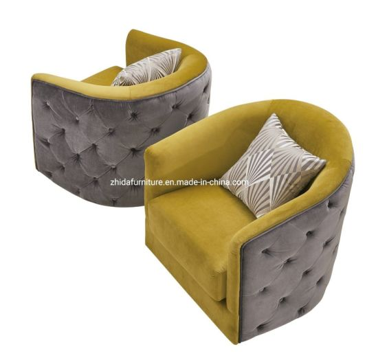Simple Design Single Back Leather Fabric Sofa Chair pictures & photos