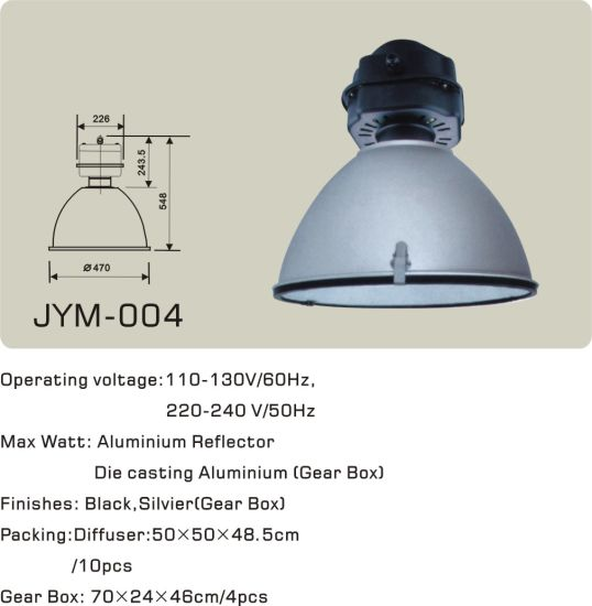 250W/400W Metal Halide/Sodium Lamp High Bay Light pictures & photos