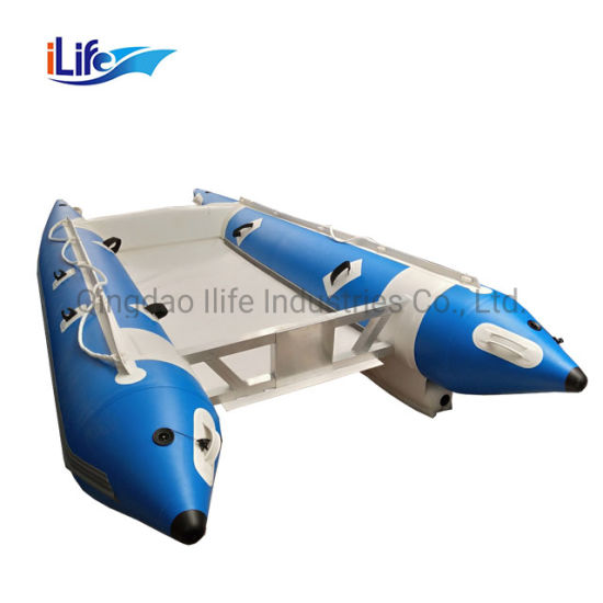 Ilife Cheap Whitewater Sailing Inflatable Catamaran Factory Price Motor Professional Ferry Catamaran Inflatable High Speed Boat