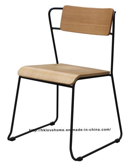 Modern Metal Restaurant Furniture Wooden Side Restaurant Chair