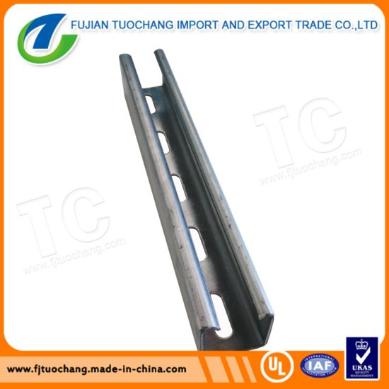 Galvanized Steel C Channel/Strut Channel/Uni-Strut Channel pictures & photos