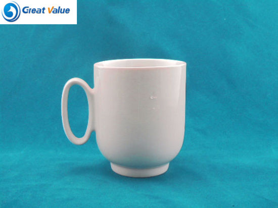 High Footed Ceramic Blank Coffee Mug with Custom Logo pictures & photos