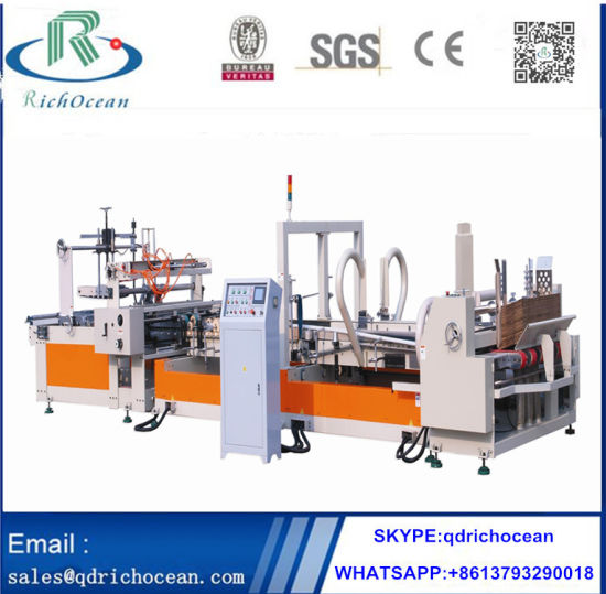 High Speed Automatic Carton Box Folder Gluer Machine for Carton Box