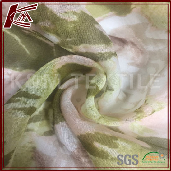 Printed Fabric Custom Design 30% Silk 70% Cotton Fabric for Garment