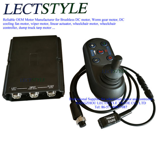 Wheelchair Motor Controller & Joystick on DC Brushless Wheelchair Motor pictures & photos
