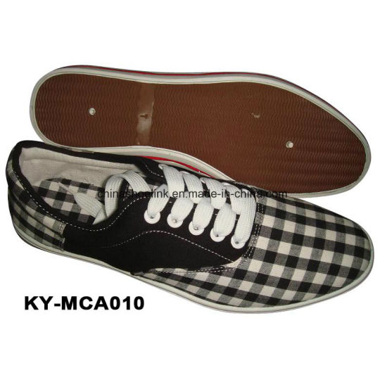 China Men Sport Casual Shoes Supplier Canvas Upper Injection Sole pictures & photos
