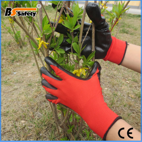 Factory! Cheap Nitrile Coated Gloves with Bottom Price and Good Quality