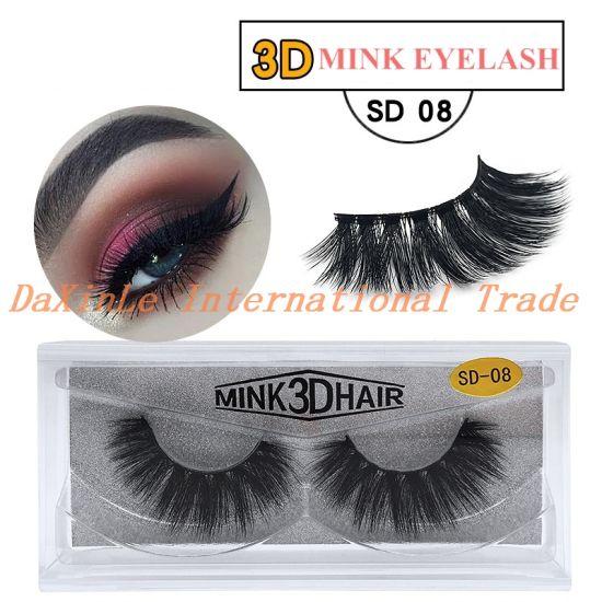 a2d58a20e3e Own Brand/OEM/Private Label Wholesale and Retail 3D 100% Mink Fur False  Eyelashes 3D Silk Eyelash