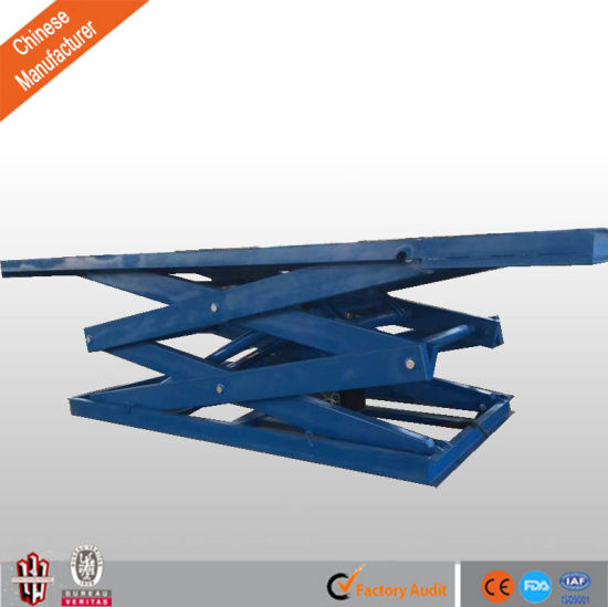 Electric /Hydraulic Heavy Duty Stationary Scissor Lift Table for Cargo pictures & photos