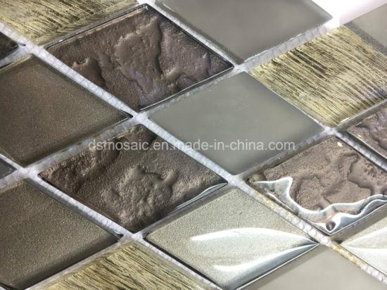 China Diamond Shape Luxuary Style Glass Mosaic Tile China Mosaic - Diamond shaped tile flooring