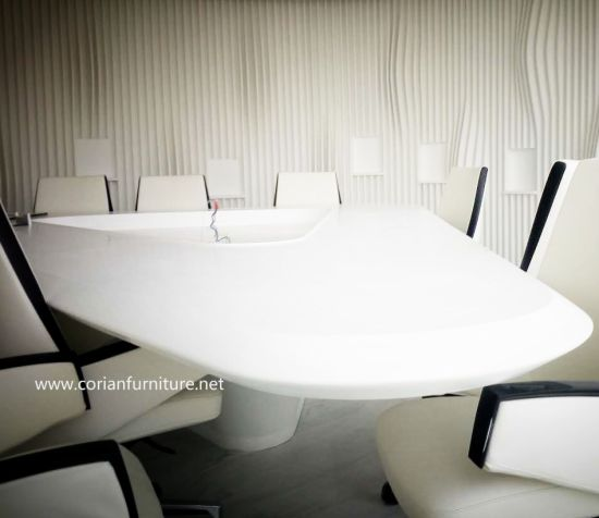 China Office Made To Size Corian Acrylic Solid Surface Conference - Corian conference table