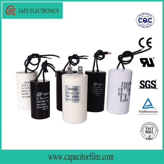 Cbb60 AC Motor Run Platstic Case Capacitor
