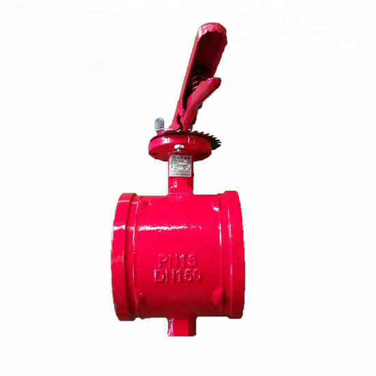 High Quality Dn50 Ductile Iron Butterfly Valve Pn16 pictures & photos