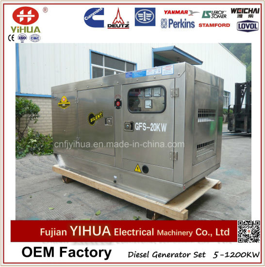 5-1200kw Stainless Soundproof Silent Diesel Generator Set pictures & photos