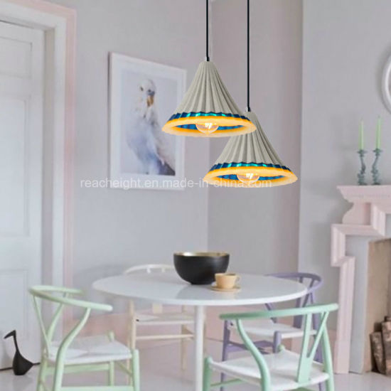 Creative Nordic Living Room Restaurant Art Cement Concrete Resin Color Lights Droplight Hanging Light pictures & photos