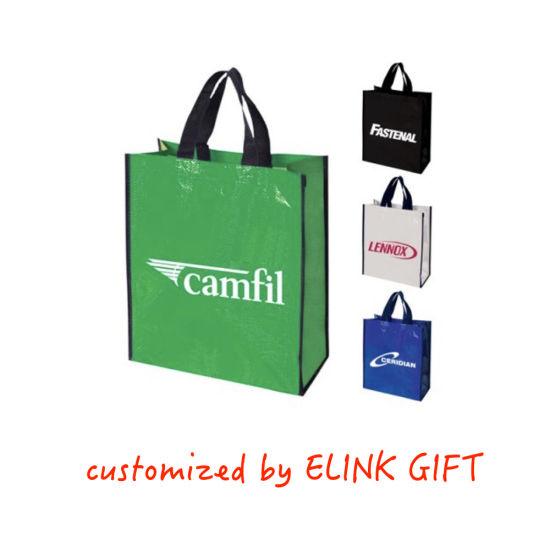 Customized Logo and Size PP Weaving Shopping Bag Plastic Tote Bag Beach Bag Shoulder Bag