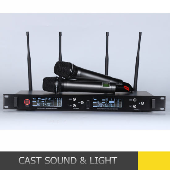 True Diversity Wide Frequency Range Professional KTV Stage Performance Wireless Microphone pictures & photos
