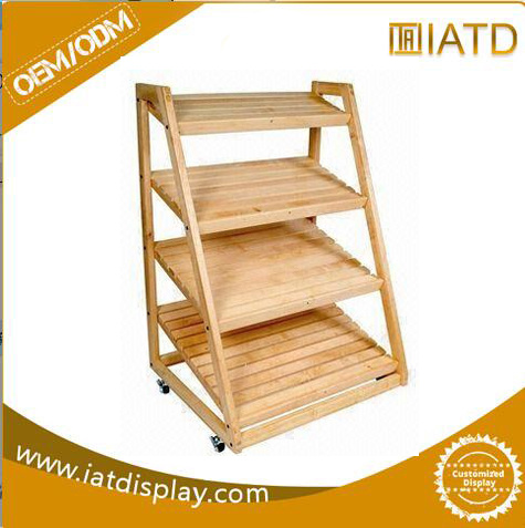 Pop up Wooden Exhibition Storage Garment Glass Display Dish Rack pictures & photos