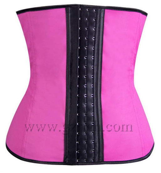 Women Sport Cincher Slimming Body Shaper Latex Waist Rubber Corset pictures & photos