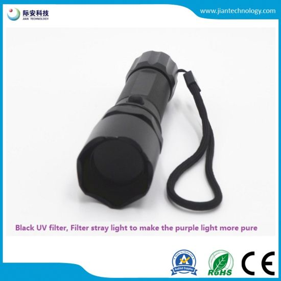 5W365nm Profession UV Black Light Flashlight For Criminal Detective Trace  Detection Fluorescence Security Cat Urine Stains Oil Stains