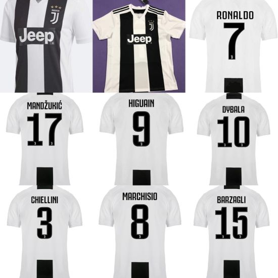 best cheap cd69c ab045 7 Ronaldo Juventus 9 Higuain 10 Dybala 3 Chiellini Soccer Football Jerseys