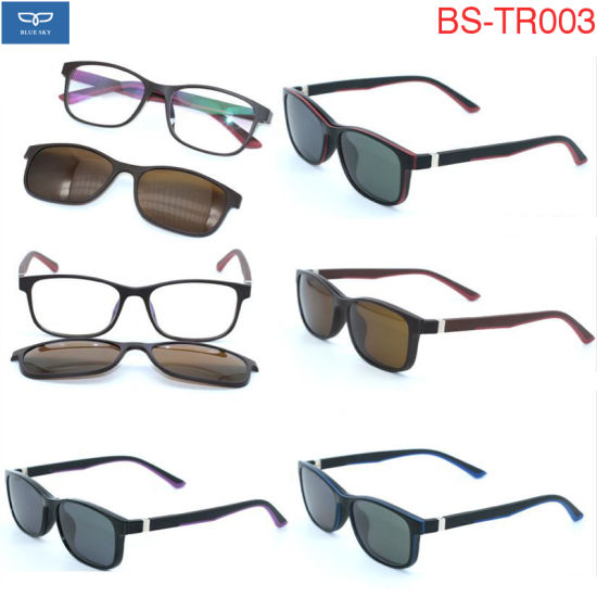 aff44b3713 Light Weight Optical Glasses Spectacles with Sunglasses Magnetic Nose Clip  Frame Tr90 Material Ready Goods Factory Wholesale 8 Colors Option