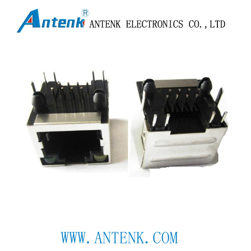 Full Shielded with LED, Side Entry, RJ45 Jack with EMI