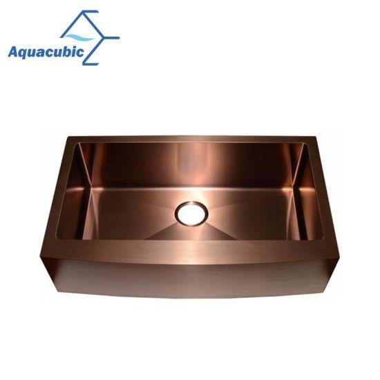 Rose Gold Single Bowl Stainless Steel Handmade Kitchen Sink (ACS3021A1RG) pictures u0026 photos  sc 1 st  Shanghai Aquacubic Sanitaryware Co. Ltd. & China Rose Gold Single Bowl Stainless Steel Handmade Kitchen Sink ...