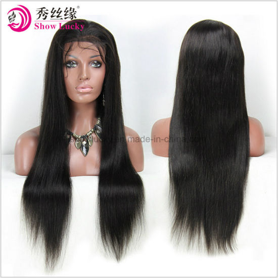 Cheap Best Quality Wholesale Unprocessed Natural Hair Line Virgin Remy  Indian Human Hair Glueless Full Lace Wig Lace Front Wig for Women d30e79cdf8