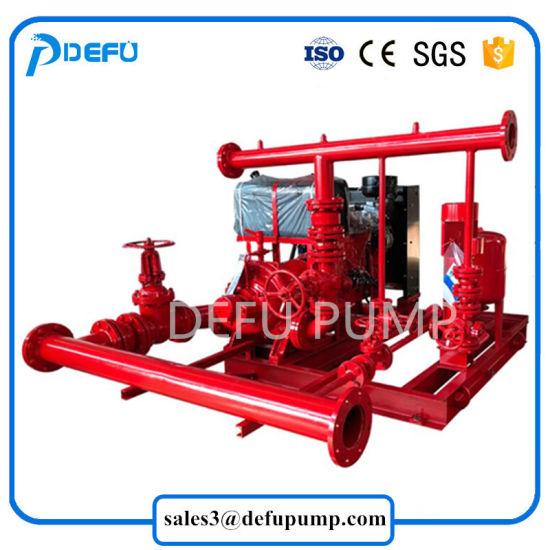 China 750gpm Diesel Engine Driven Fire Pump Package Split Case Pump