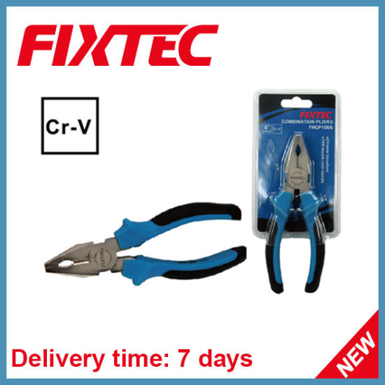 Fixtec Hand Tool CRV 6'' Combination Pliers Cutting Pliers