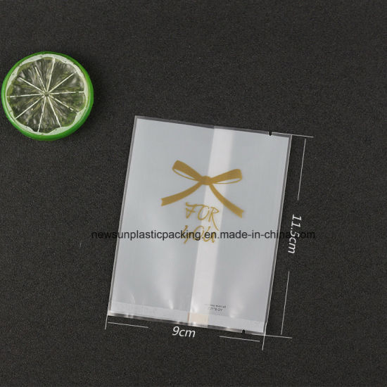 Food Grade Matting OPP Plastic Bag with Middle Sealing for Cakes Candy Biscuits Packaging pictures & photos